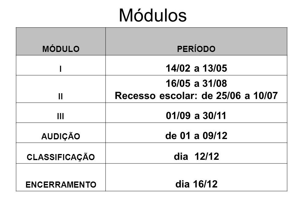 Recesso escolar: de 25/06 a 10/07