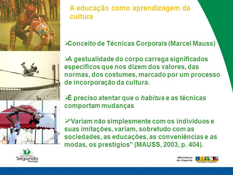 A educação como aprendizagem da cultura