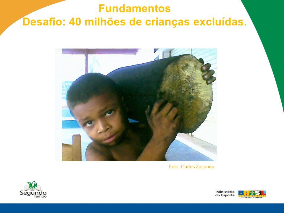 Desafio: 40 milhões de crianças excluídas.
