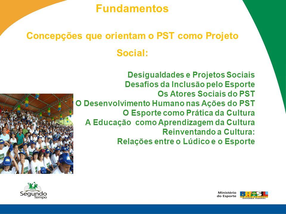 Concepções que orientam o PST como Projeto Social: