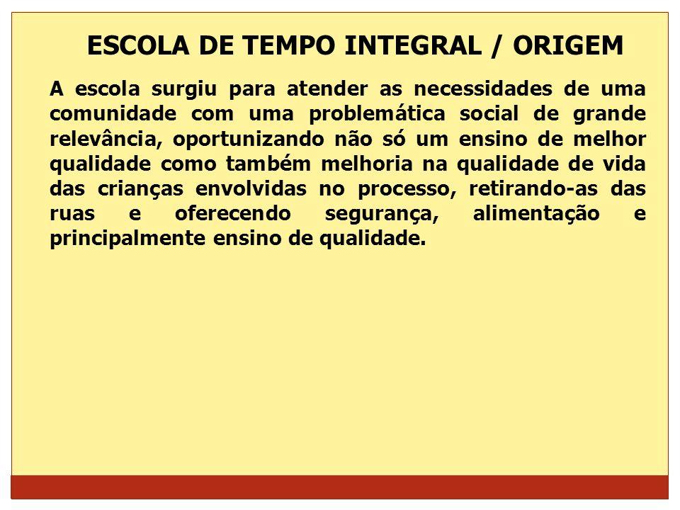 ESCOLA DE TEMPO INTEGRAL / ORIGEM