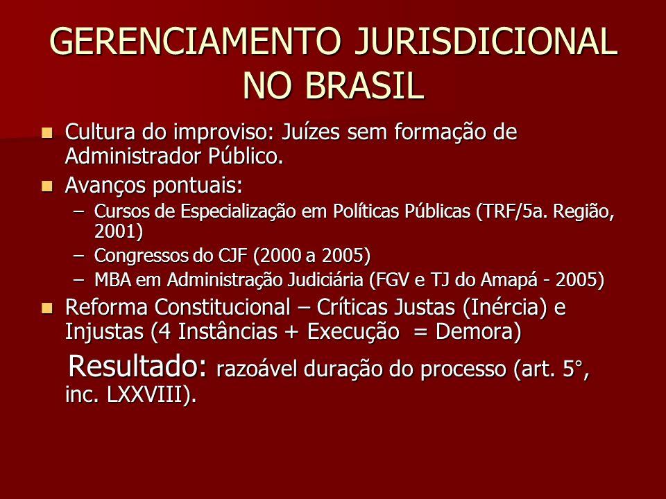 GERENCIAMENTO JURISDICIONAL NO BRASIL