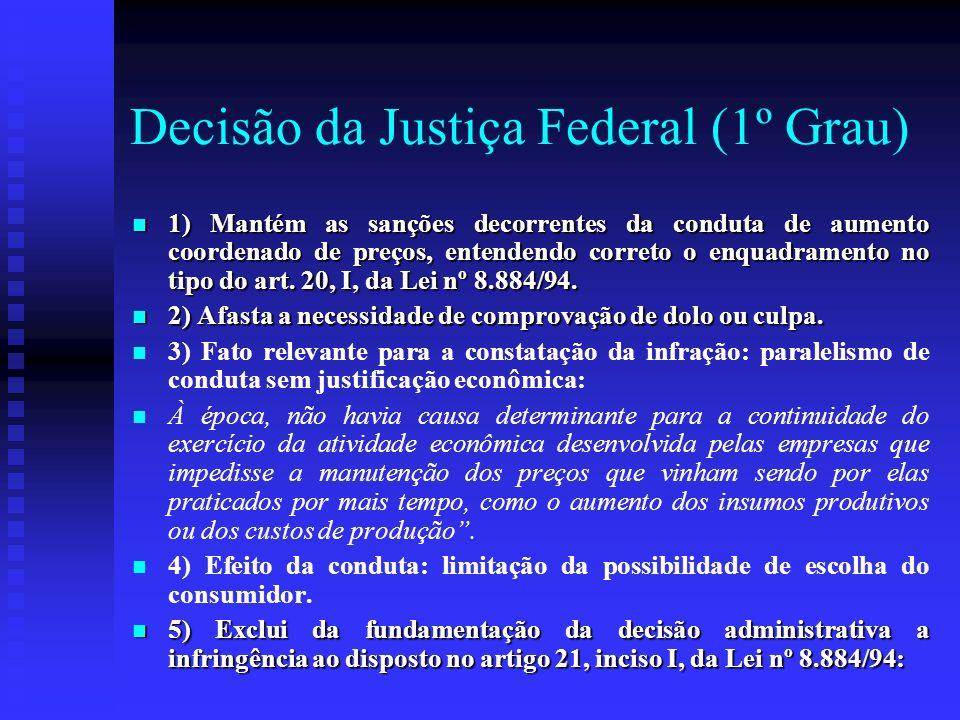 Decisão da Justiça Federal (1º Grau)