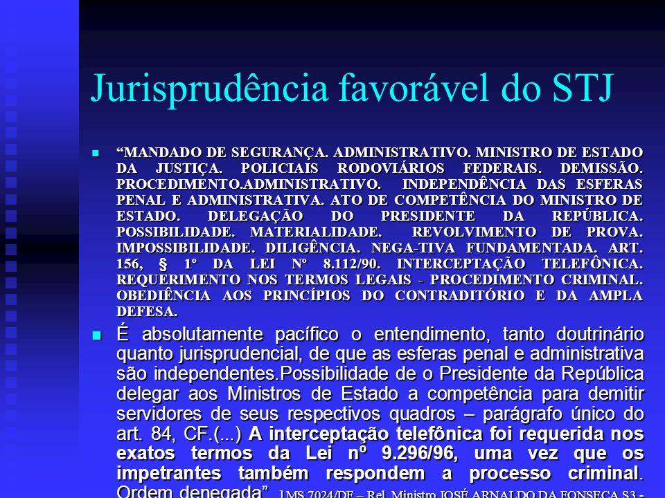 Jurisprudência favorável do STJ