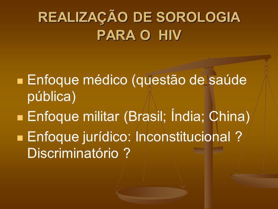 REALIZAÇÃO DE SOROLOGIA PARA O HIV