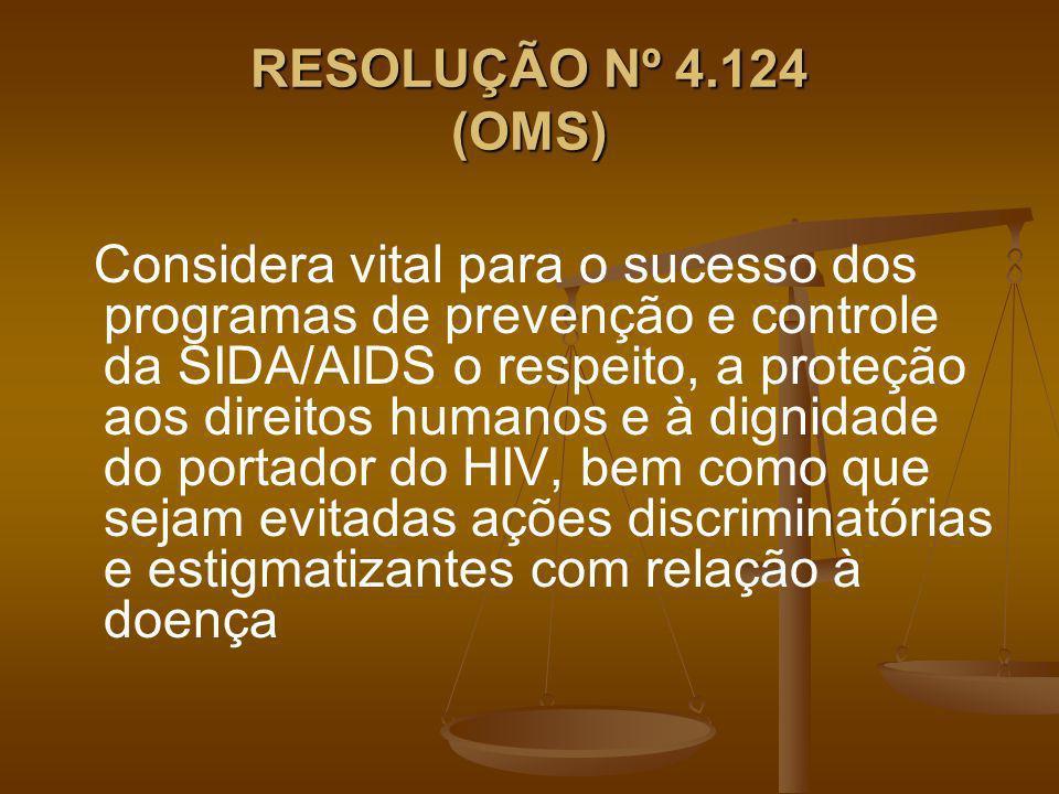 RESOLUÇÃO Nº 4.124 (OMS)