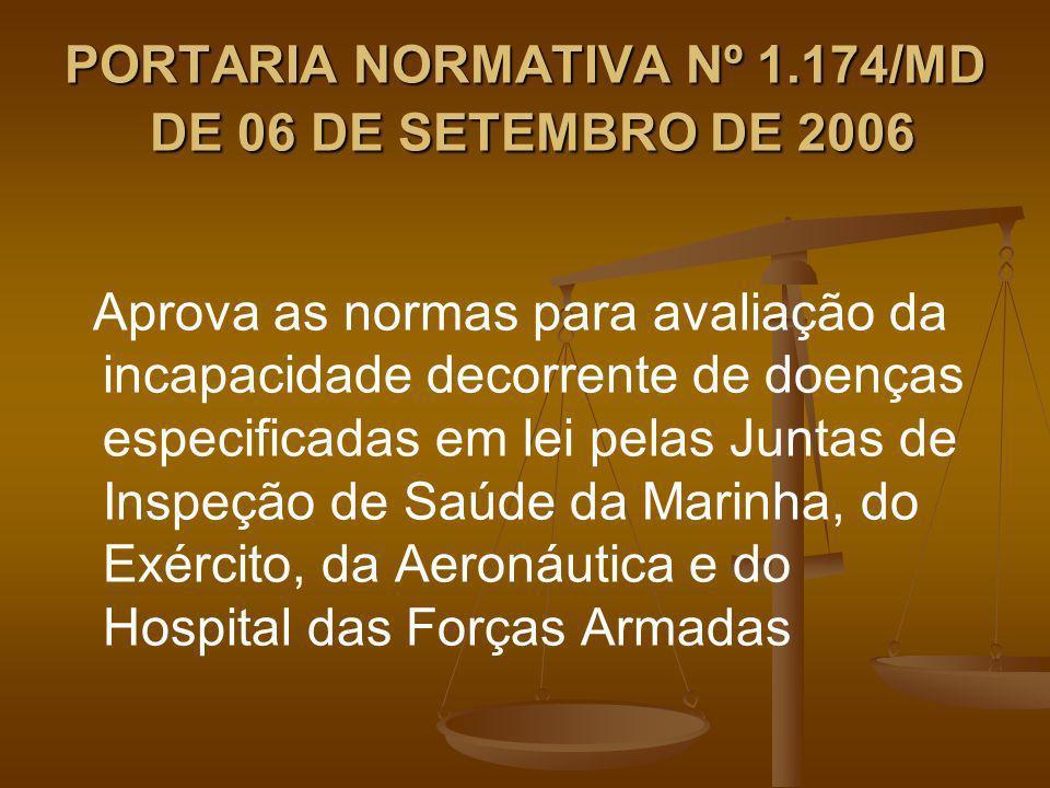 PORTARIA NORMATIVA Nº 1.174/MD DE 06 DE SETEMBRO DE 2006