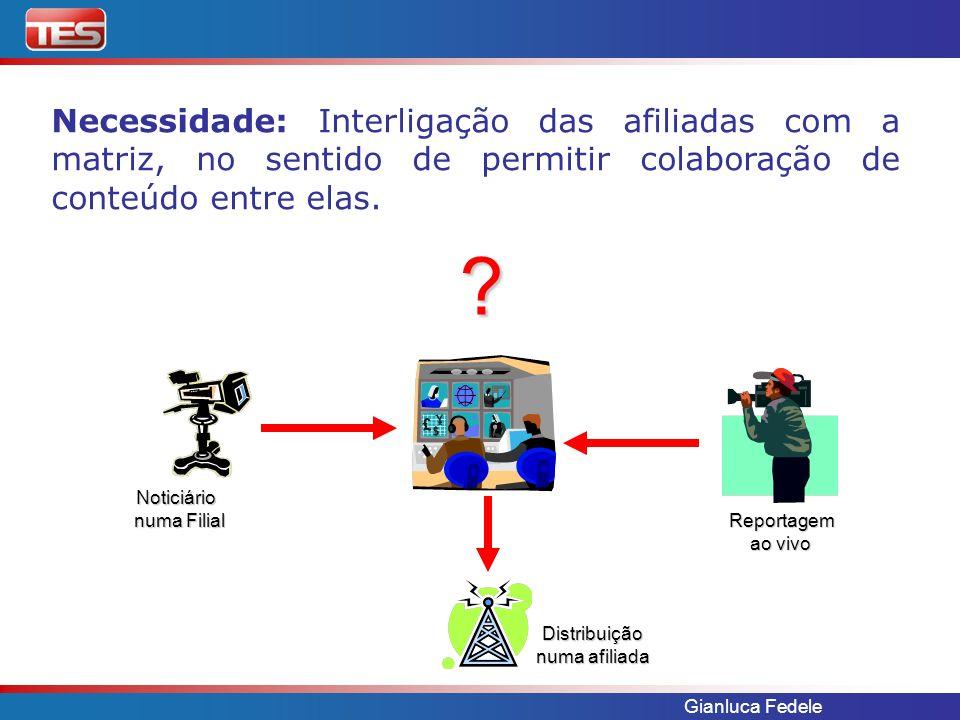 Necessidade: Interligação das afiliadas com a matriz, no sentido de permitir colaboração de conteúdo entre elas.