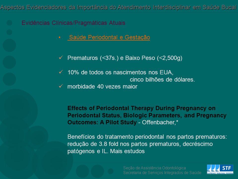 Evidências Clínicas/Pragmáticas Atuais Saúde Periodontal e Gestação