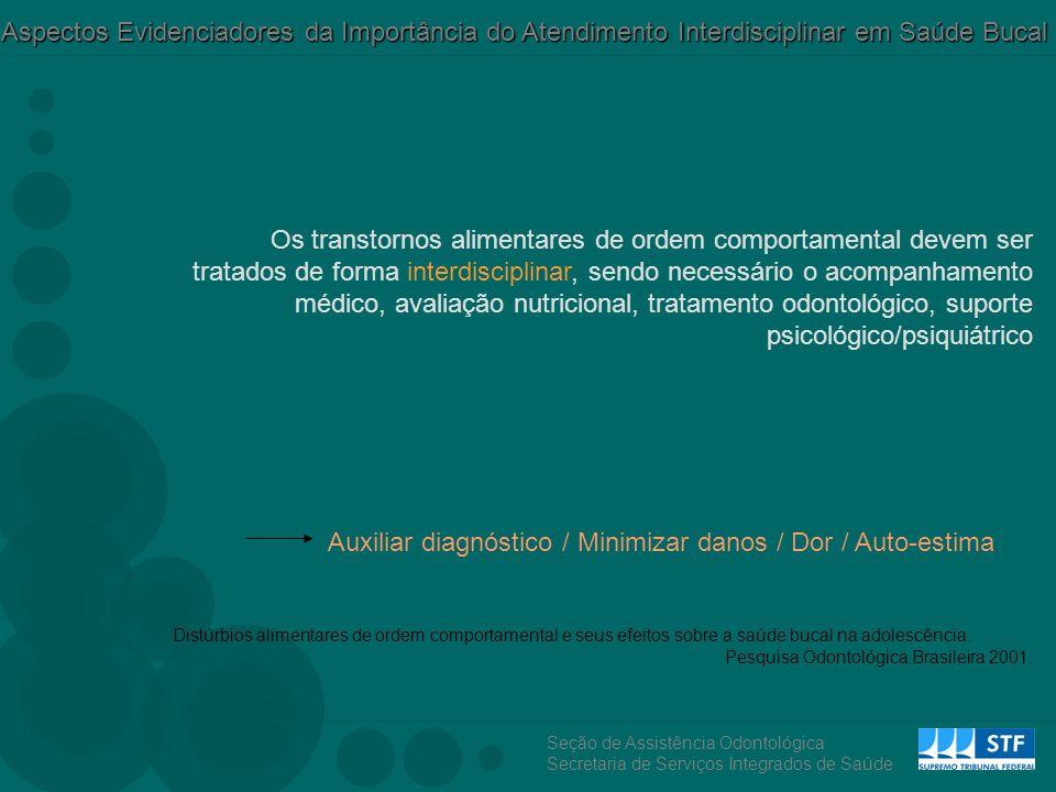 Auxiliar diagnóstico / Minimizar danos / Dor / Auto-estima