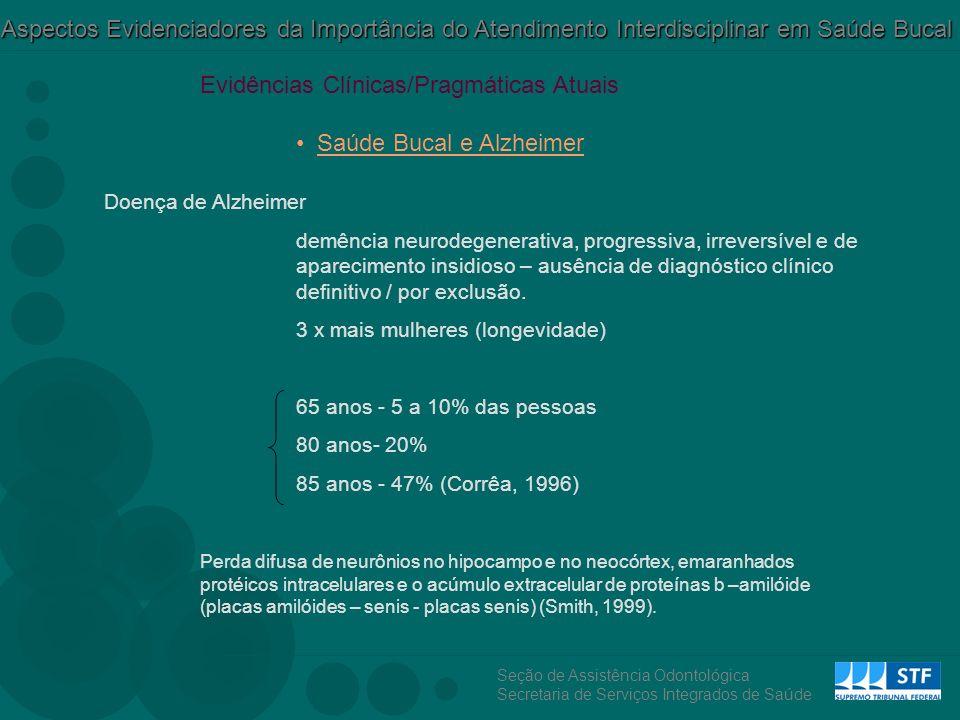 Evidências Clínicas/Pragmáticas Atuais Saúde Bucal e Alzheimer