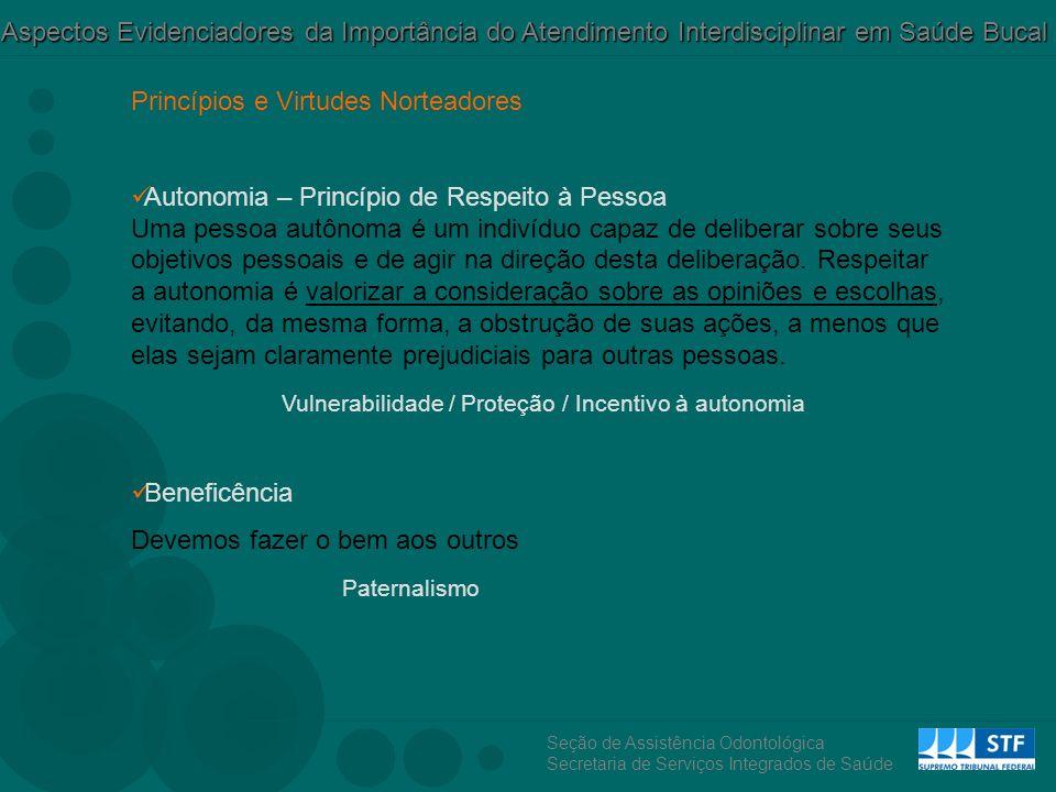 Vulnerabilidade / Proteção / Incentivo à autonomia