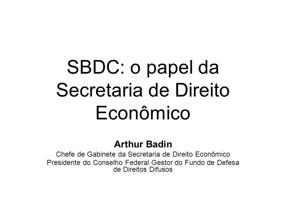 SBDC: o papel da Secretaria de Direito Econômico