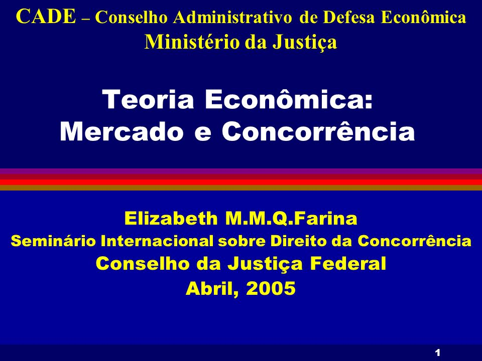 Teoria Econômica: Mercado e Concorrência
