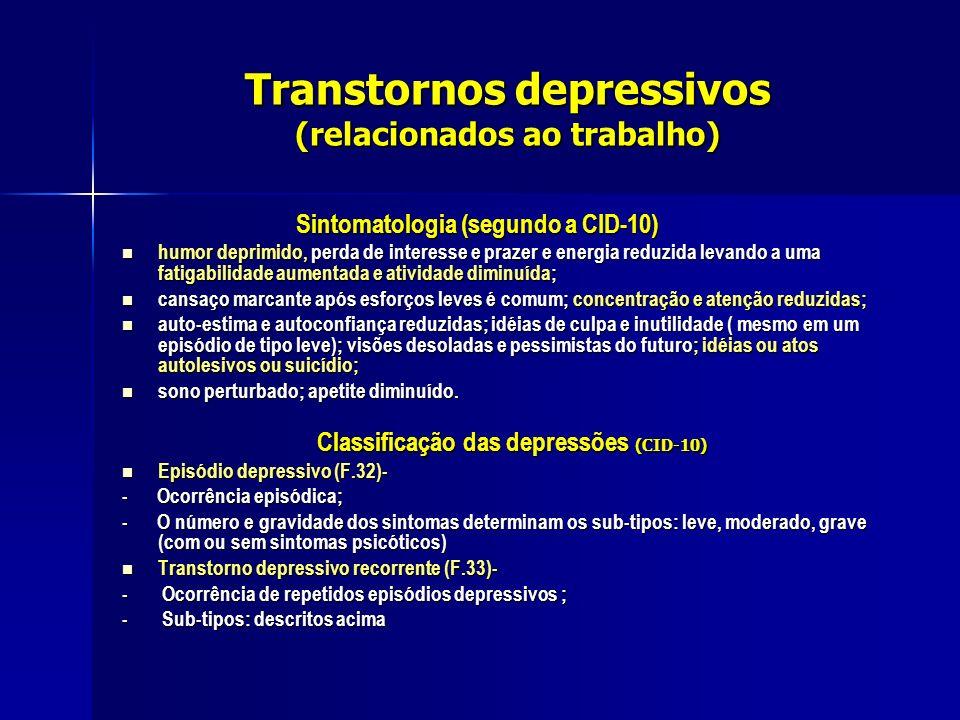 Transtornos depressivos (relacionados ao trabalho)