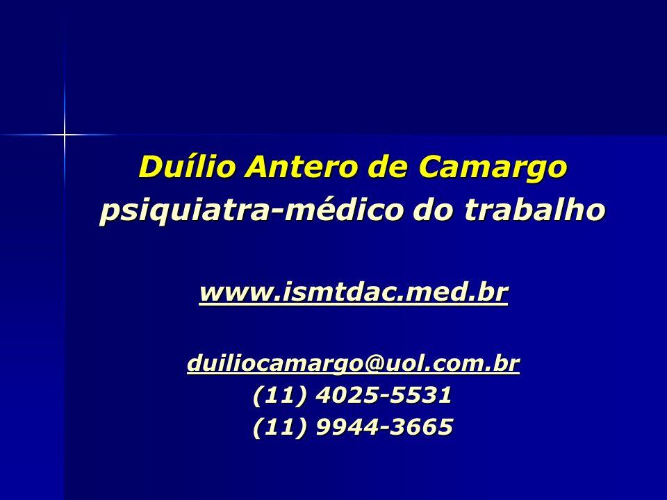 Duílio Antero de Camargo psiquiatra-médico do trabalho