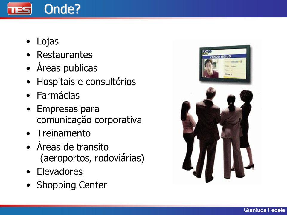 Onde Lojas Restaurantes Áreas publicas Hospitais e consultórios