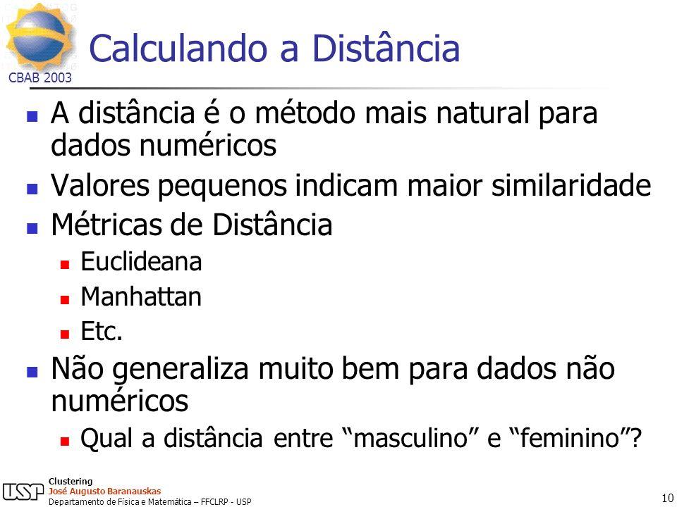 Calculando a Distância