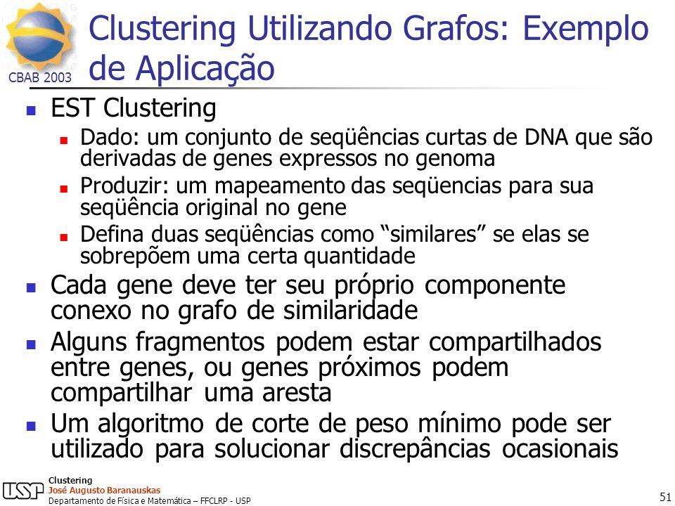 Clustering Utilizando Grafos: Exemplo de Aplicação