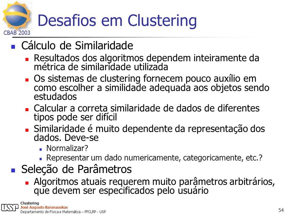 Desafios em Clustering