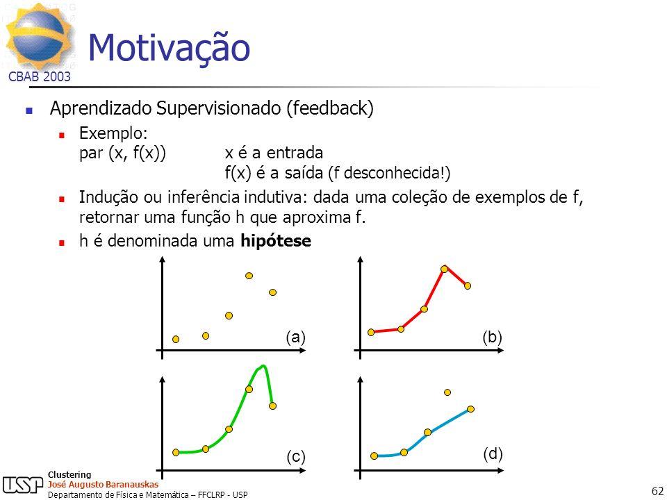 Motivação Aprendizado Supervisionado (feedback)