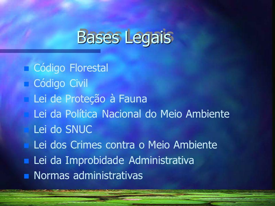 Bases Legais Código Florestal Código Civil Lei de Proteção à Fauna