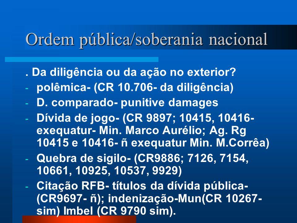 Ordem pública/soberania nacional
