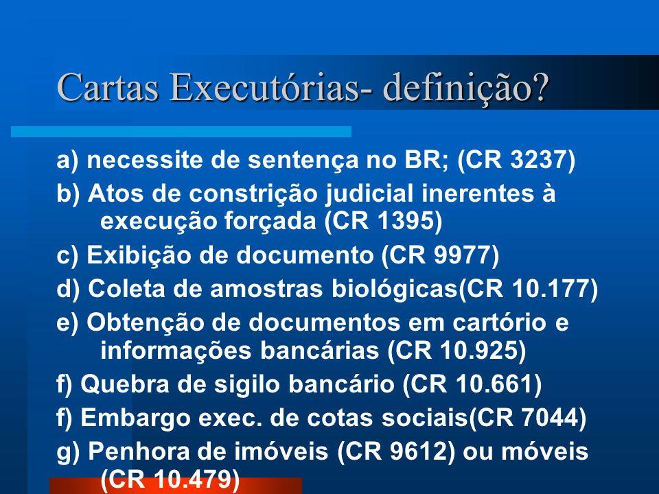 Cartas Executórias- definição