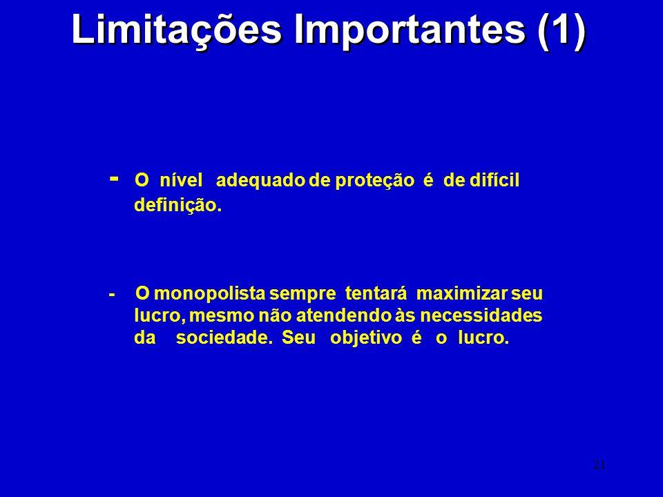 Limitações Importantes (1)