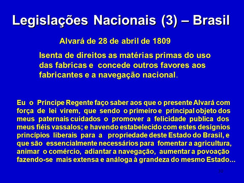 Legislações Nacionais (3) – Brasil