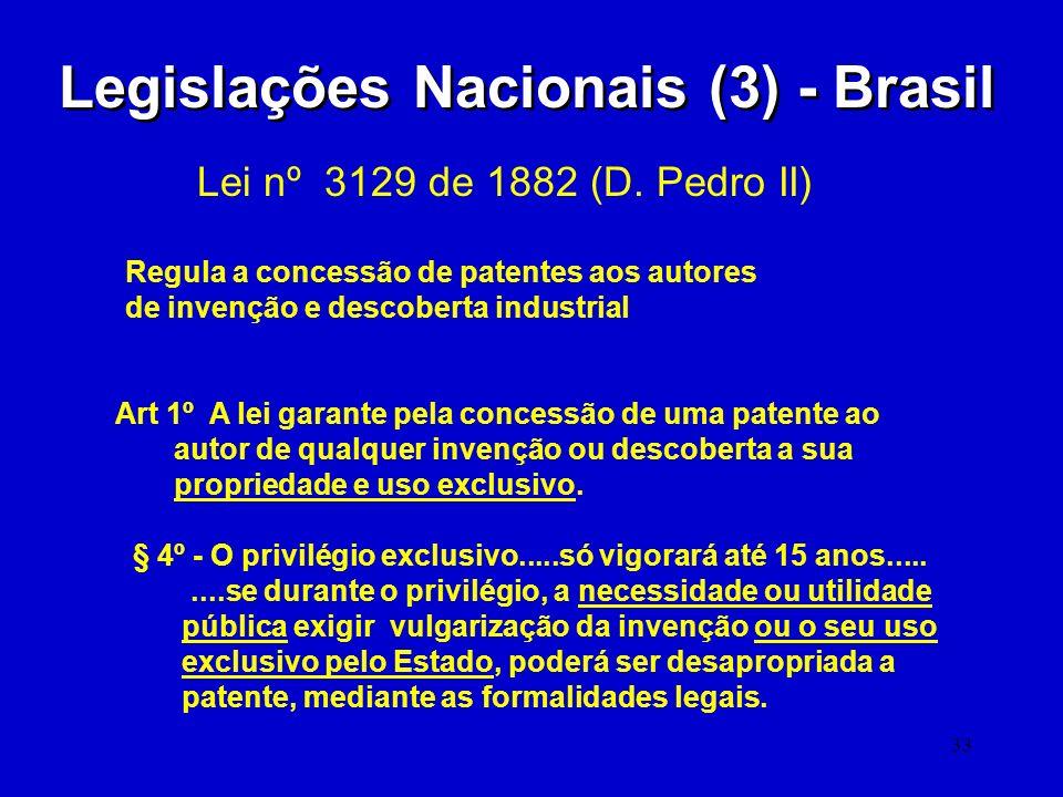 Legislações Nacionais (3) - Brasil