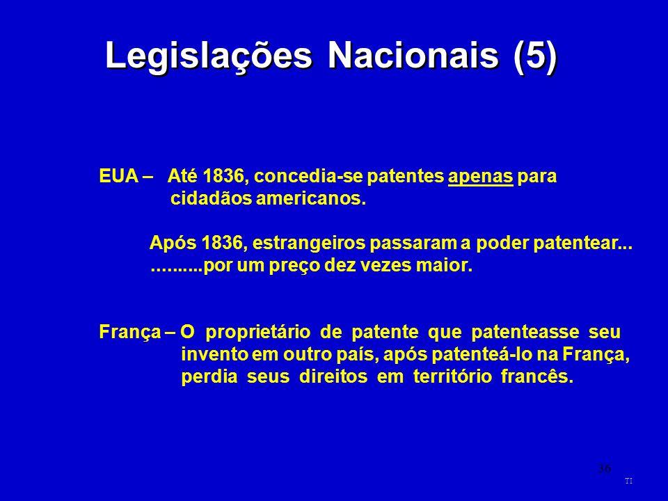 Legislações Nacionais (5)