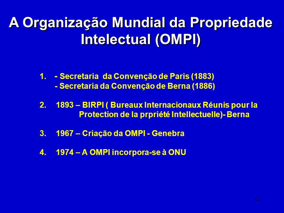 A Organização Mundial da Propriedade Intelectual (OMPI)