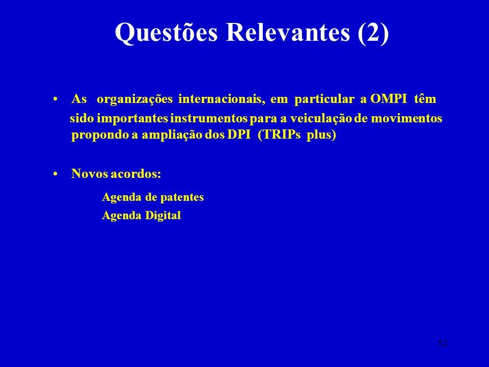 Questões Relevantes (2)