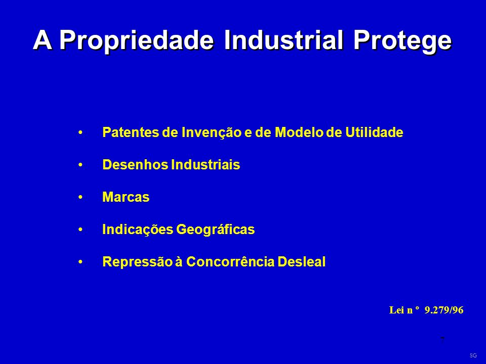 A Propriedade Industrial Protege