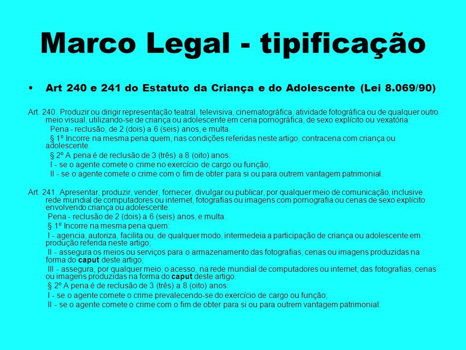 Marco Legal - tipificação