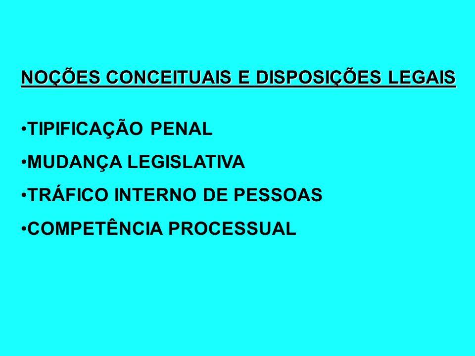 NOÇÕES CONCEITUAIS E DISPOSIÇÕES LEGAIS