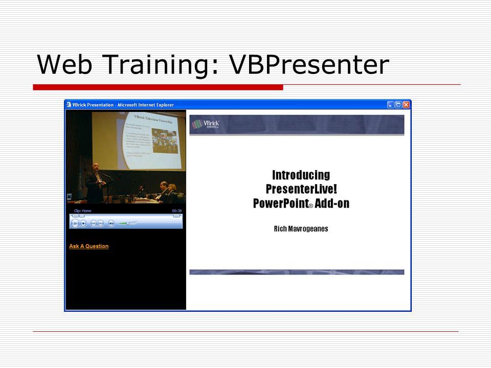 Web Training: VBPresenter