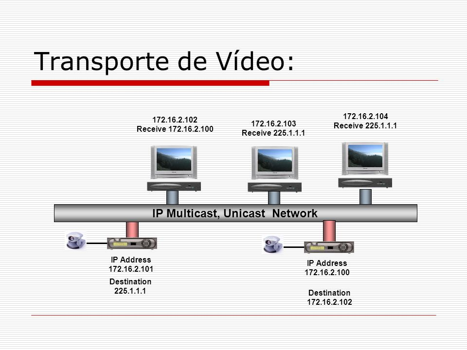 IP Multicast, Unicast Network