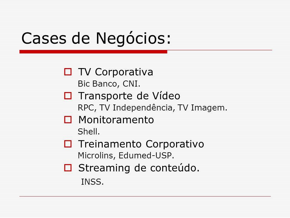 Cases de Negócios: TV Corporativa Transporte de Vídeo Monitoramento