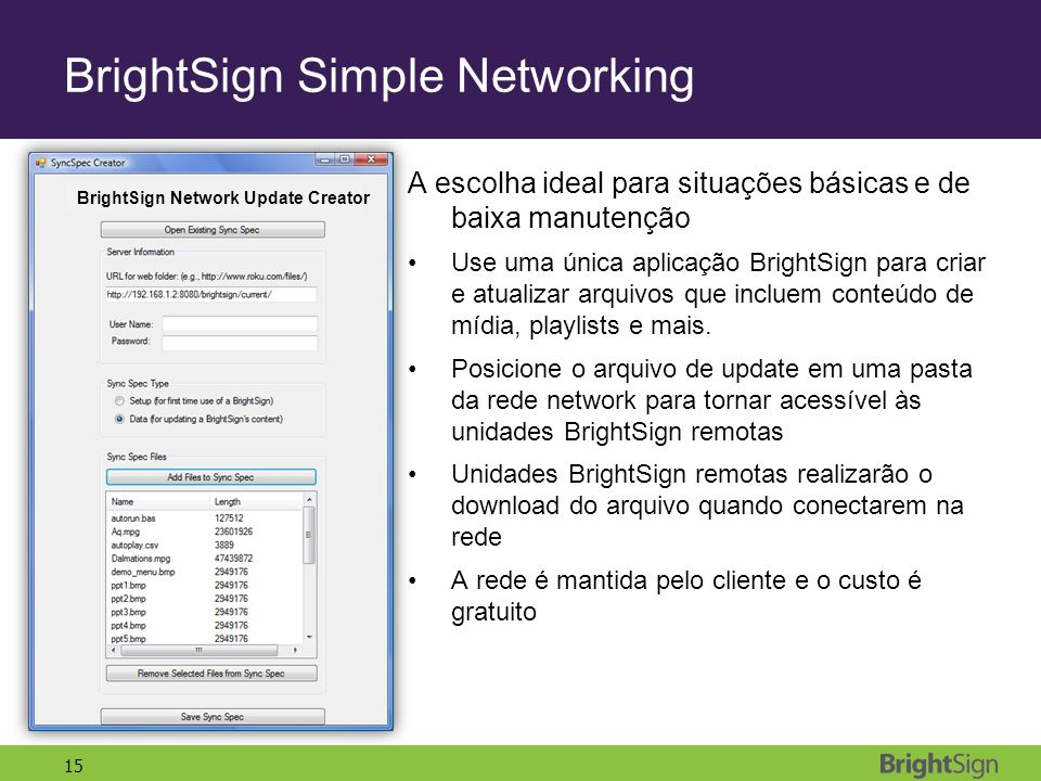 BrightSign Simple Networking