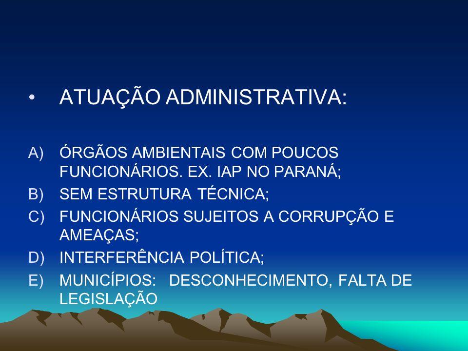 ATUAÇÃO ADMINISTRATIVA: