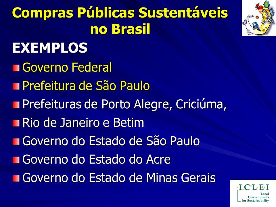 Compras Públicas Sustentáveis no Brasil