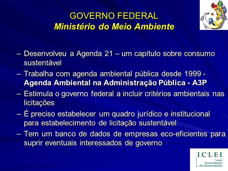 GOVERNO FEDERAL Ministério do Meio Ambiente
