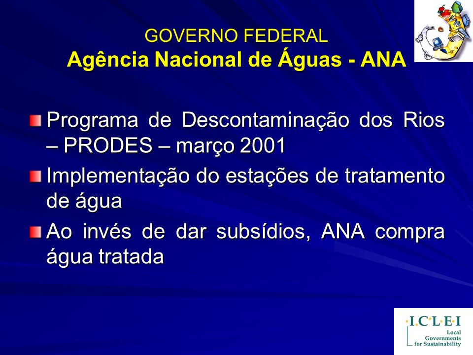 GOVERNO FEDERAL Agência Nacional de Águas - ANA