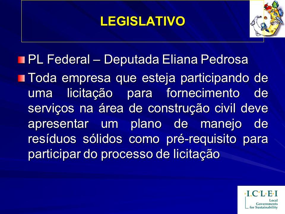 LEGISLATIVO PL Federal – Deputada Eliana Pedrosa.