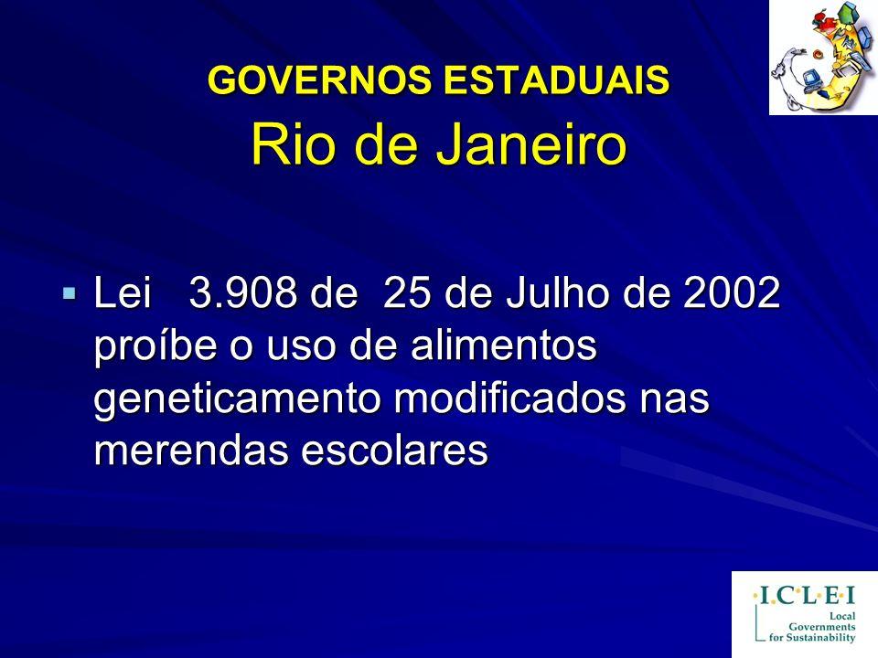 GOVERNOS ESTADUAIS Rio de Janeiro