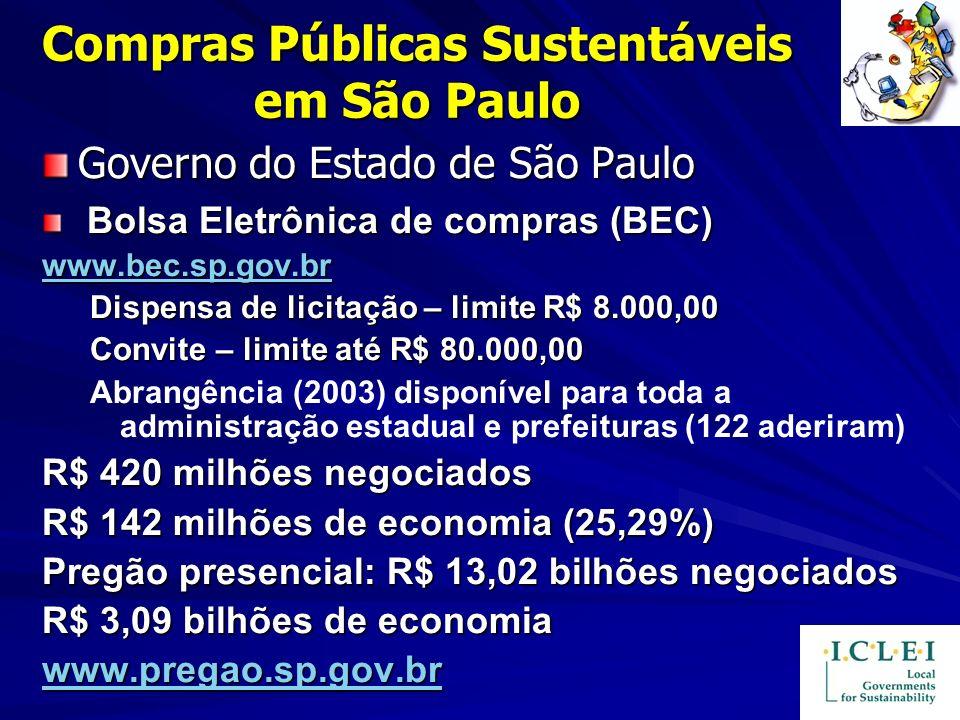 Compras Públicas Sustentáveis em São Paulo
