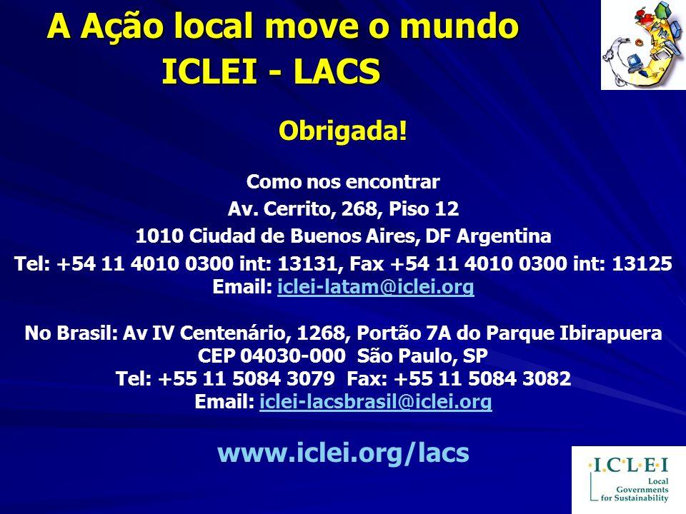 A Ação local move o mundo ICLEI - LACS