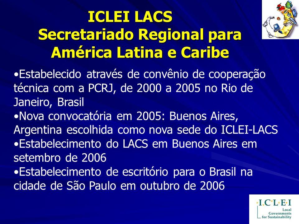 ICLEI LACS Secretariado Regional para América Latina e Caribe